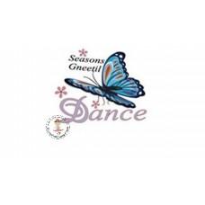 Butterfly Dance Bügelbild