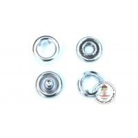 Jersey Druckknöpfe 9 mm * Silber