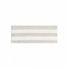 Lurex Streifenborte * Ecru-Silber