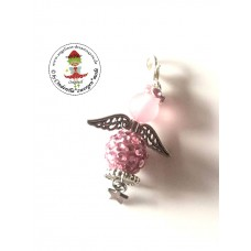 Schutzengel rosa dangle