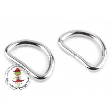 D-Ring Silber 32 mm 2 Stück