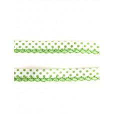 Einfassband mit Häkelborte*weiß/grün