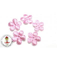 Satin Blume Dots*Rosa*5 Stück