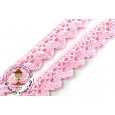 Klöppelspitze ZickZack Rose