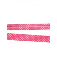 Schrägband pink Dots