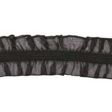 Organza Rüsche beidseitig schwarz*Wäschespitze