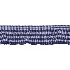 Vichy Rüsche dunkelblau