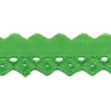 Wäschespitze Bordüre 25 mm* Raute*grün