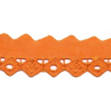 Wäschespitze Bordüre 25 mm* Raute*orange
