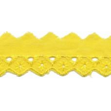 Wäschespitze Bordüre 25 mm* Raute*gelb