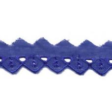 Wäschespitze Bordüre 25 mm* Raute*kobalt