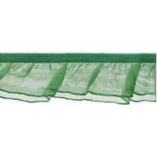 Organza Rüsche doppellagig grün*Wäschespitze