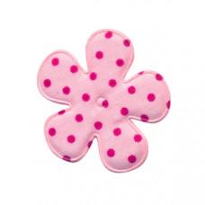 Blümchen rosa * Dots fuchsia * 5 Stück
