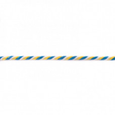 Kordel  3-farbig*Aqua*Gelb*Weiß