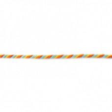 Kordel  3-farbig*Gelb*Hellblau*Orange