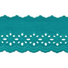 Wäschespitze Blütenzauber 80 mm ♥ seegrün Baumwolle