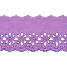 Wäschespitze Blütenzauber 80 mm ♥ flieder Baumwolle