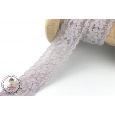 Elastische Spitzenborte Petite FLEUR*30 mm*Grau