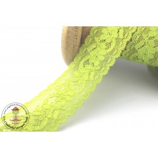 Elastische Spitzenborte Petite FLEUR*30 mm*Giftgrün