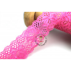 Elastische Spitzenborte Blütentraum*35 mm*Pink
