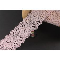 Elastische Spitzenborte Blütentraum*35 mm*Hellrosa