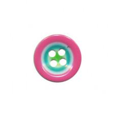 Multicolor Knopf Rosa 15 mm*4 Stück