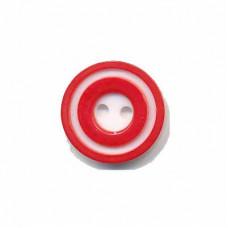 Donut Knopf 15 mm Rot*4 Stück