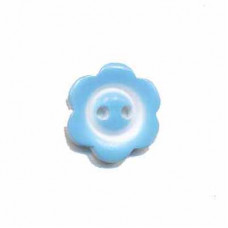 Blumenknopf Blau 15 mm*3 Stück
