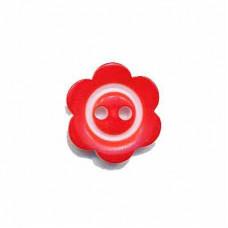 Blumenknopf Rot 15 mm*3 Stück