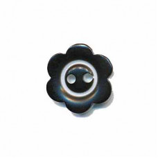 Blumenknopf Schwarz 15 mm*3 Stück