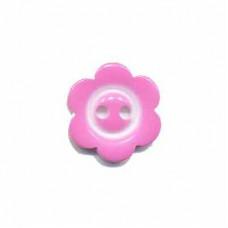 Blumenknopf Rosa 15 mm*3 Stück