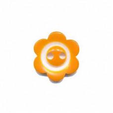 Blumenknopf Orange 15 mm*3 Stück