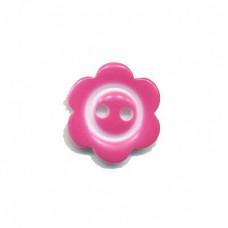 Blumenknopf Pink 15 mm*3 Stück