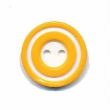 Donut Knopf Gelb 20 mm*2 Stück
