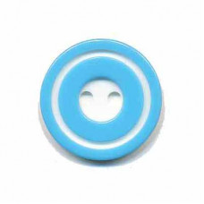 Donut Knopf Blau 20 mm*2 Stück