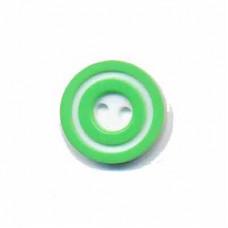 Donut Knopf 15 mm Lindgrün*4 Stück