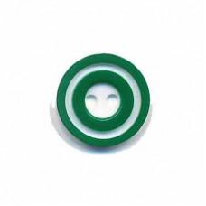 Donut Knopf 15 mm Grün*4 Stück