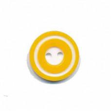 Donut Knopf 15 mm Gelb*4 Stück