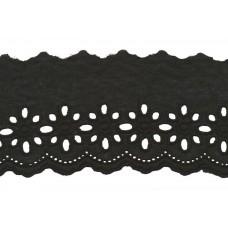 Wäschespitze Blütenzauber 80 mm*schwarz Baumwolle