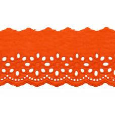 Wäschespitze Blütenzauber 80 mm ♥ orange Baumwolle