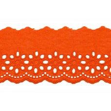 Wäschespitze Blütenzauber 80 mm*orange Baumwolle