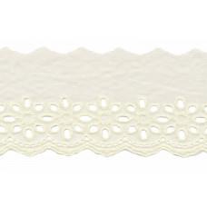 Wäschespitze Blütenzauber 80 mm ♥ creme Baumwolle