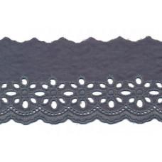 Wäschespitze Blütenzauber 80 mm ♥ grau Baumwolle