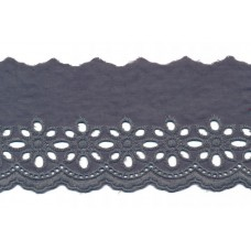 Wäschespitze Blütenzauber 80 mm*grau Baumwolle