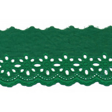 Wäschespitze Blütenzauber 80 mm ♥ grün Baumwolle