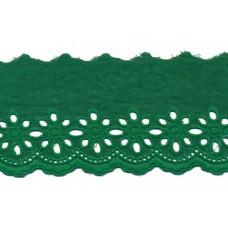 Wäschespitze Blütenzauber 80 mm*grün Baumwolle