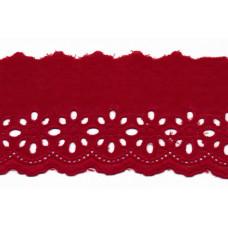 Wäschespitze Blütenzauber 80 mm ♥ bordeaux Baumwolle