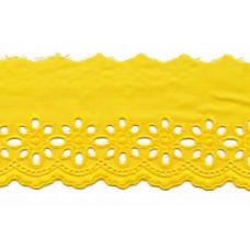 Wäschespitze Blütenzauber 80 mm ♥ gelb Baumwolle