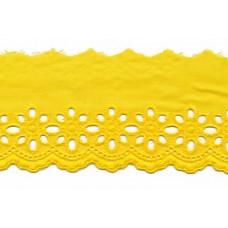 Wäschespitze Blütenzauber 80 mm*gelb Baumwolle