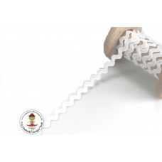 Zackenlitze Weiß 10 mm